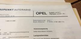 Einbauanleitung Opel Kadett Olympia 1967-1970 Blaupunkt autoradio