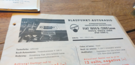 einbauanleitung / installation instructions Fiat 1800 / 2300 luxus