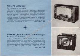 Philips 1949-1950 radioempfänger