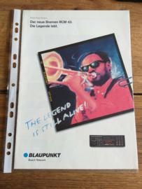 Blaupunkt 1993 Der neue Bremen RCM 43 (duits)