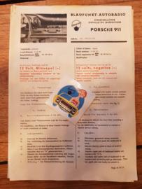 Selten, blaupunkt box mit Autoradio-Einbausatz für Porsche 911 / 912