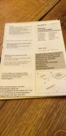 Sony RM-X4S gebruiksaanwijzing manual betriebsanleitung