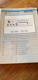 DC 360 / 361 gebruiksaanwijzing manual Philips  autoradio