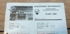 einbauanleitung / installation instructions Fiat 124 9.69