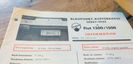 einbauanleitung / installation instructions Fiat 1300 / 1500