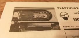 Einbauanleitung Ford Taunus 17 M 1963 Blaupunkt autoradio