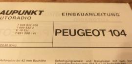 Einbauanleitung Peugeot 104   Blaupunkt autoradio