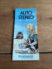 """Ω PIONEER ® folder """"Auto-Stereo 7/86""""  nieuwstaat"""