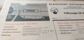 Einbauanleitung VW 1200 Käfer Blaupunkt autoradio 1958-1965