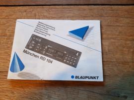 Düsserldorf RCR 84 Blaupunkt autoradio gebruiksaanwijzing