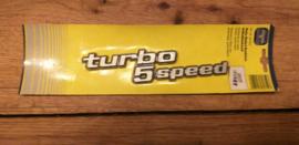 "auto emblem "" TURBO 5 SPEED """