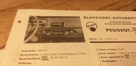 Einbauanleitung Peugeot 404  1964 Blaupunkt autoradio
