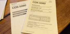 Sony CDX-5080  gebruiksaanwijzing manual betriebsanleitung
