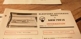 Einbauanleitung BMW 700 LS 1964 Blaupunkt autoradio Mainz