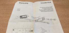 gebruiksaanwijzing 22AN764 Philips autoradio