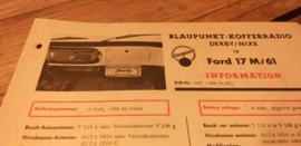 Einbauanleitung Ford Taunus 17 M 1962 Blaupunkt autoradio