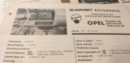 Einbauanleitung Opel Kapitän Admiral Diplomat 1969 Blaupunkt autoradio