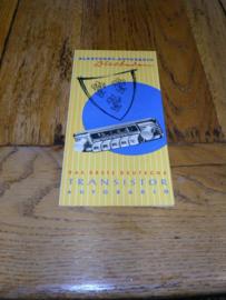 BLAUPUNKT 1957 AUTORADIO Prospekt Das erste deutsche Transistor Autoradio Wiesbaden