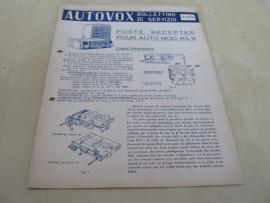 Gebruiksaanwijzing / schema Autovox RA 9
