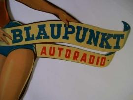 Blaupunkt Pin-Up girl reclame bord (perfect)