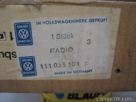 Blaupunkt Wolfsburg VW radio in originele doos Kever T2 bus