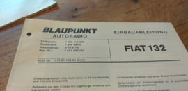 einbauanleitung / installation instructions Fiat 132