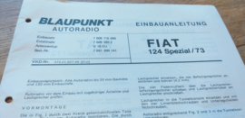einbauanleitung / installation instructions Fiat 124 spezial 1973