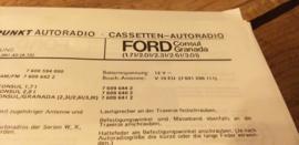 Einbauanleitung Ford  Consul Granada 1972 Blaupunkt autoradio