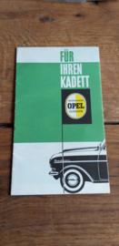 """Opel  Kadett zubehör """"für ihren Kadett""""  + preisliste  1962"""