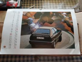 Audi 1985 kalender / calendar quattro mancave
