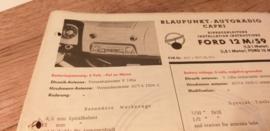 Einbauanleitung Ford Taunus 12 M 1961 Blaupunkt autoradio