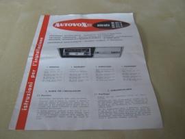 Gebruiksaanwijzing / inbouwschema Autovox Rm 312 / 314