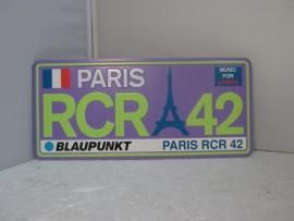 Nummerplaat Paris RCR 42