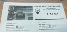 einbauanleitung / installation instructions Fiat 124 6.67