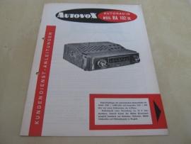 Gebruiksaanwijzing / schema Autovox RA 102 /ol