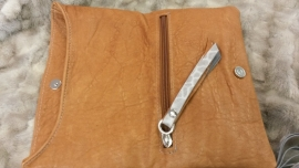 Folded Clutch Brown