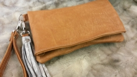 Folded Clutch Brown