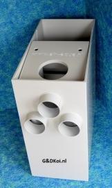 Zeeffilter SuperSieve L laag model (3x ingang, 2x uitgang!)