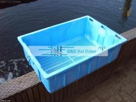 Japanse drijfbasket blauw + orginele deksel