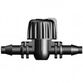 Schroefkraan tbv 4/6mm slang 2 stuks