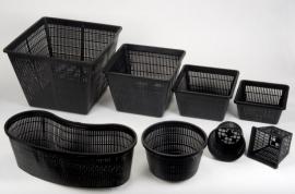 Plastic Plantenmand vierkant 11x11cm
