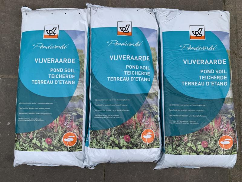 Vijverplanten grond / vijveraarde 4 zakken van 20ltr