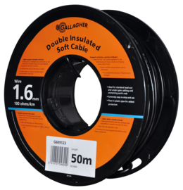 Gallagher grondkabel Kabel 1,6mm 50m rol 100 Ohm 1km 021604