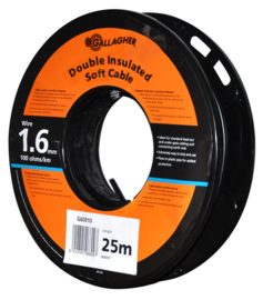 Gallagher grondkabel Kabel 1,6mm 25m rol - 100 Ohm - 1km