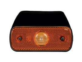 LED markeringslamp Zijlamp oranje met steun 12/24volt 543-2.05C
