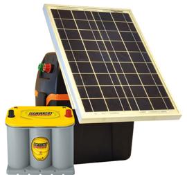 Gallagher schrikdraadapparaat zonnepaneel  S230 B200+30W+Optima 3,7l accu