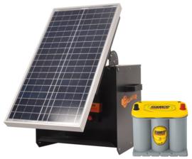 Schrikdraadapparaat zonnepaneel S280 Solarbox+B280+30W+Optima 3,7l