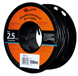 Gallagher grondkabel Kabel 2,5mm 50m rol 35 Ohm 1km 062712