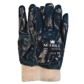 Werkhandschoen PVC blauw NBR M-Trile 50-020