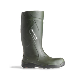 Werklaars kniehoogte Dunlop c762933 Purofort groen BEVEILIGD S5